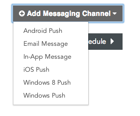 Appboy Messaging Channels