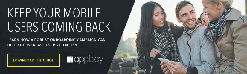 Appboy Mobile Onboarding Essentials Ad