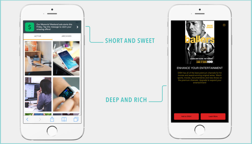 Rich vs. Simple In-App Messages