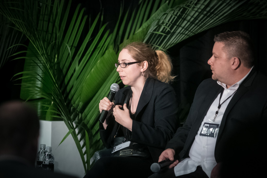 WeWork's Victoria Taylor and Sports Illustrated's Krys Krycinski speaking at the Loyalty By Association Panel at the LTR Conference in New York City
