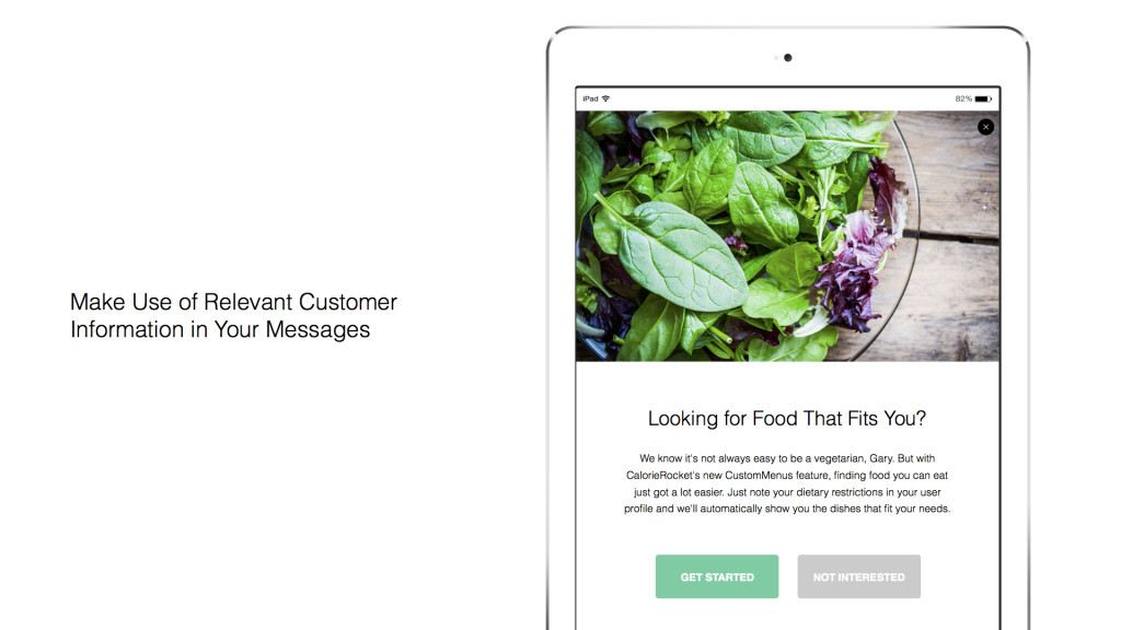 Personalization based on a customer attribute