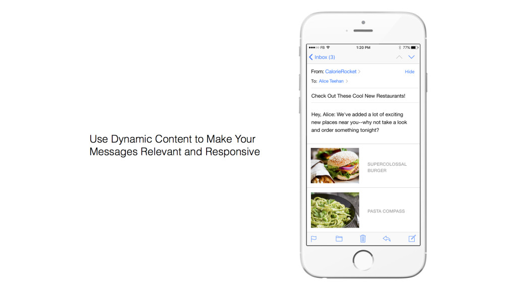 Personalization with dynamic content