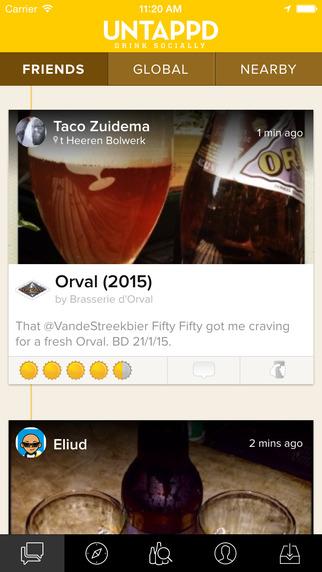 Untappd app social feeds