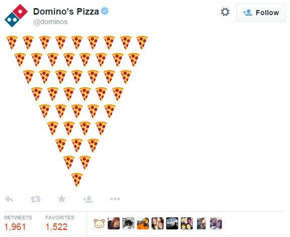 Domino's order with emoji