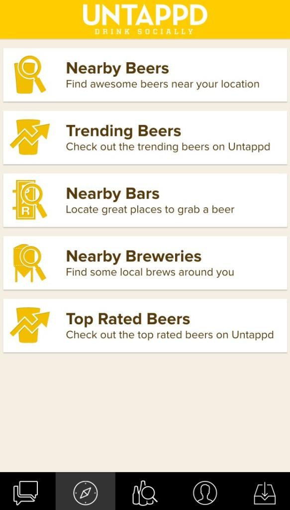 Untappd app community features