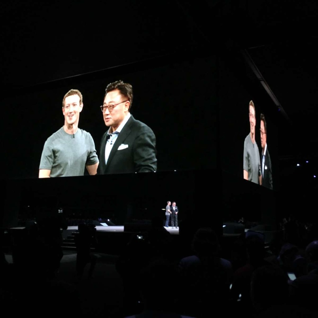 Facebook's Zuckerberg and Samsung's Koh