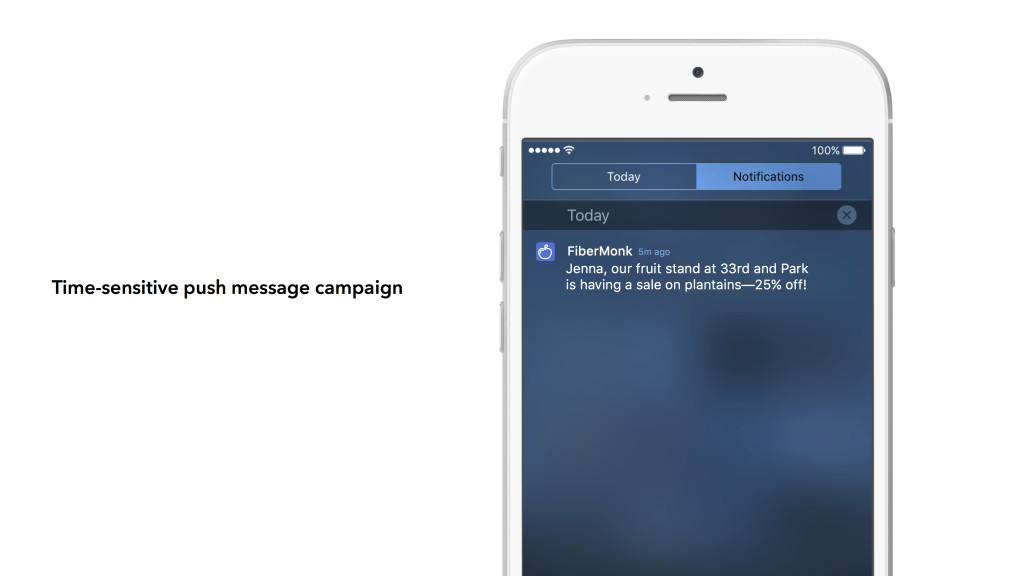 Location-based push message