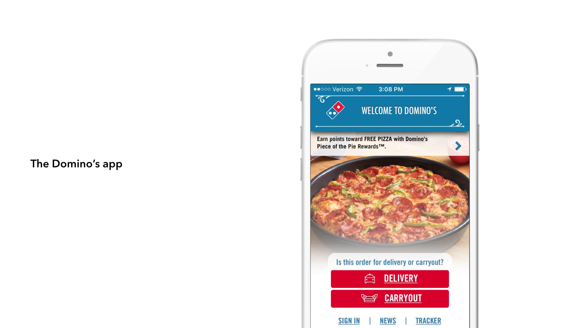 The Domino's app