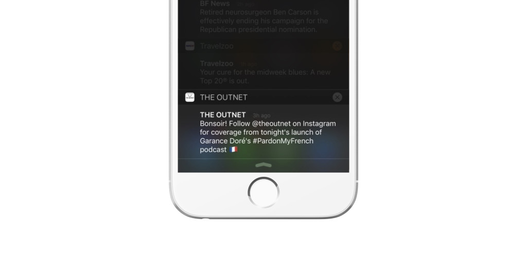 The Outnet push notification