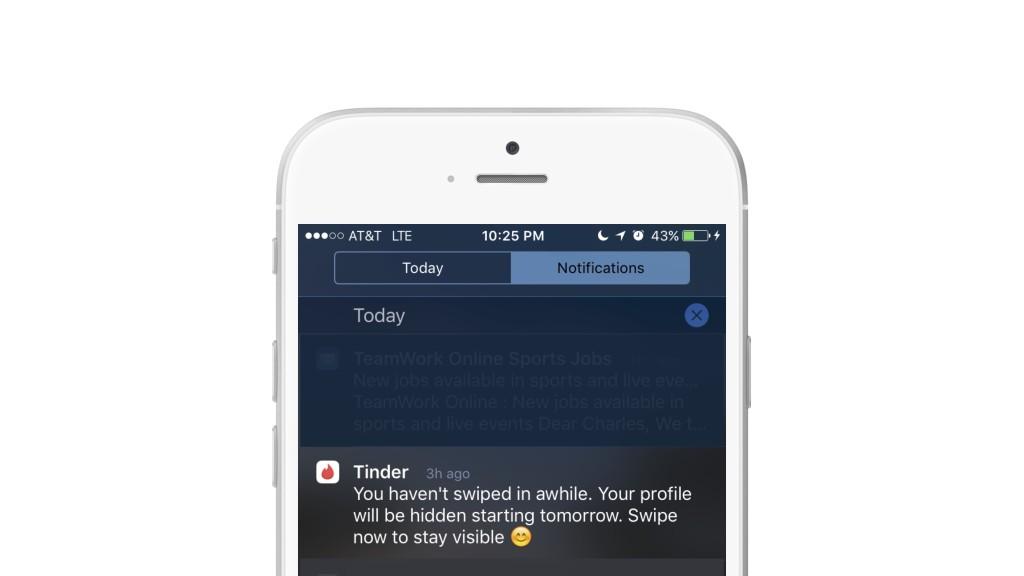 Tinder push notification