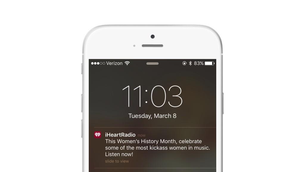 iHeartRadio push notification