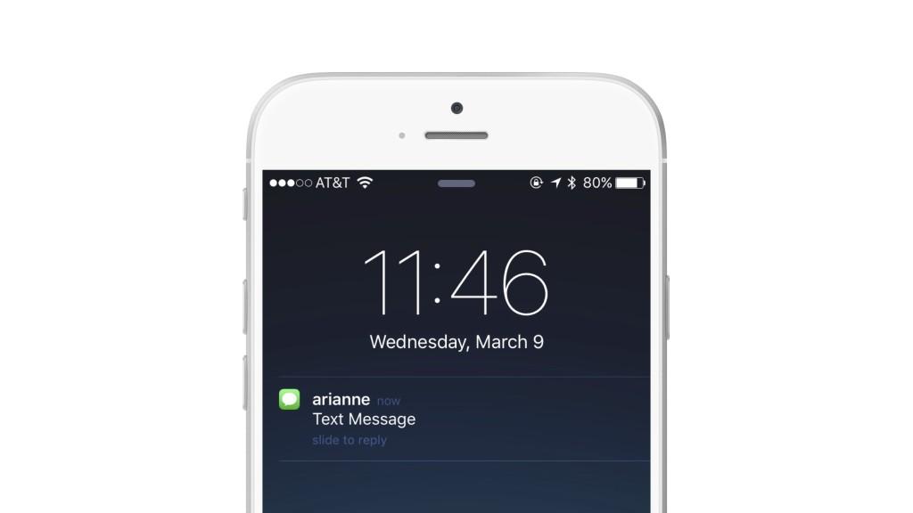 iMessage push notification