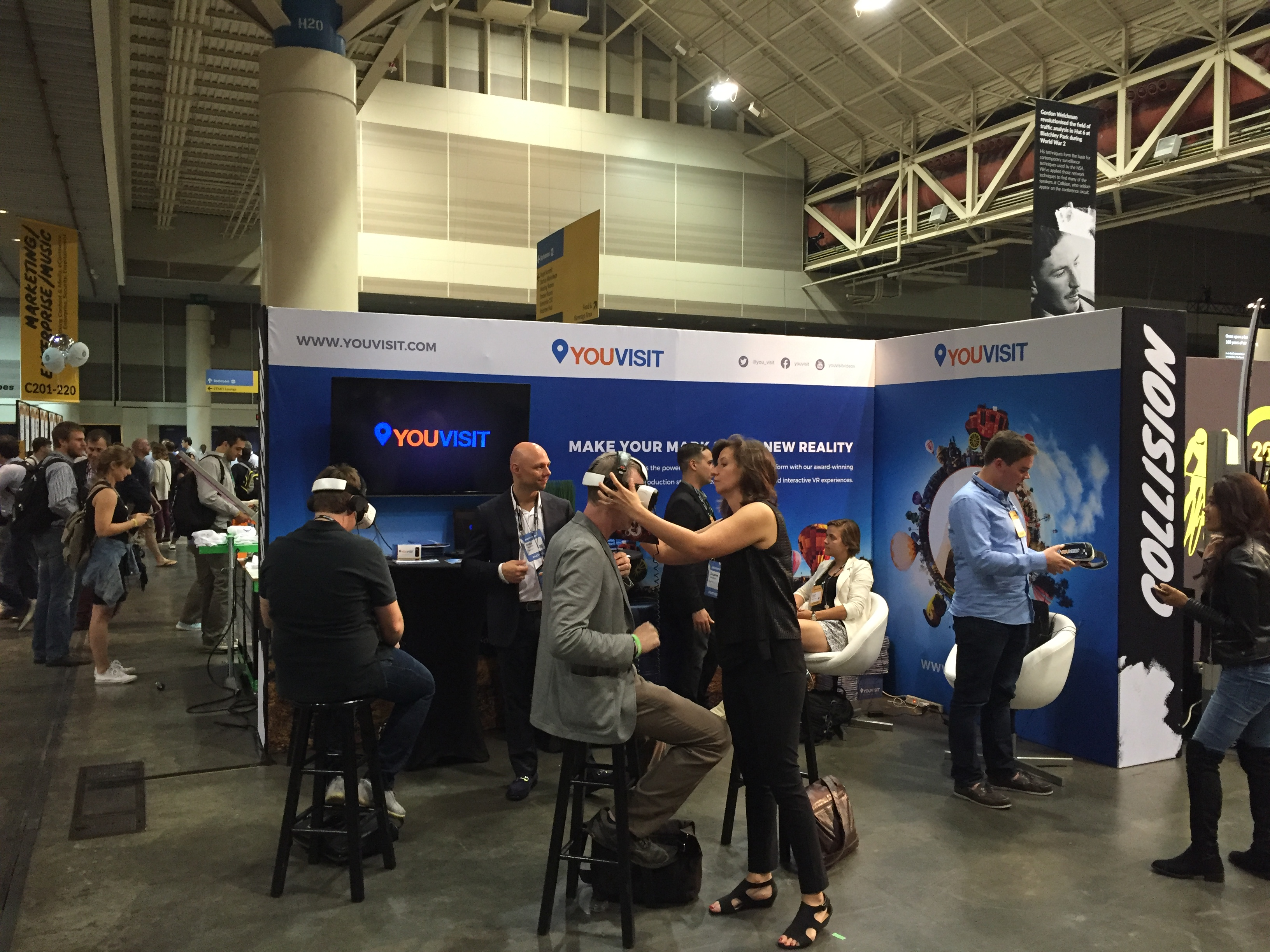 Virtual reality demonstrations at Collision Conference 2016