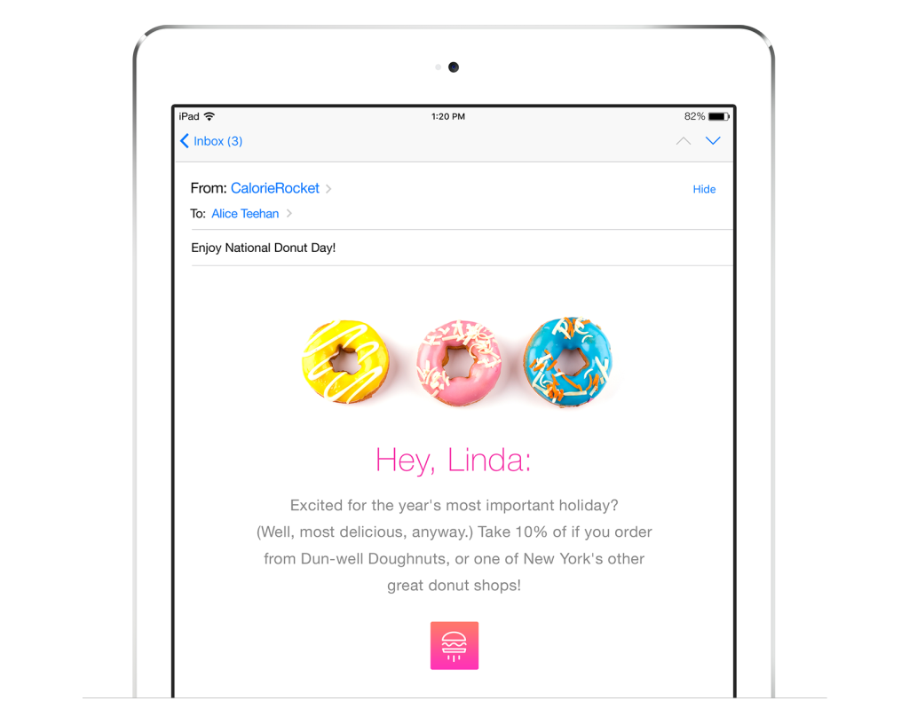 Location-based personalized message