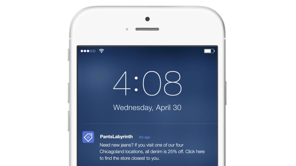Location-personalized push notification