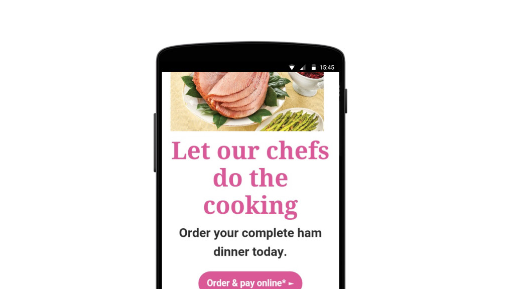 Ham-themed mobile email