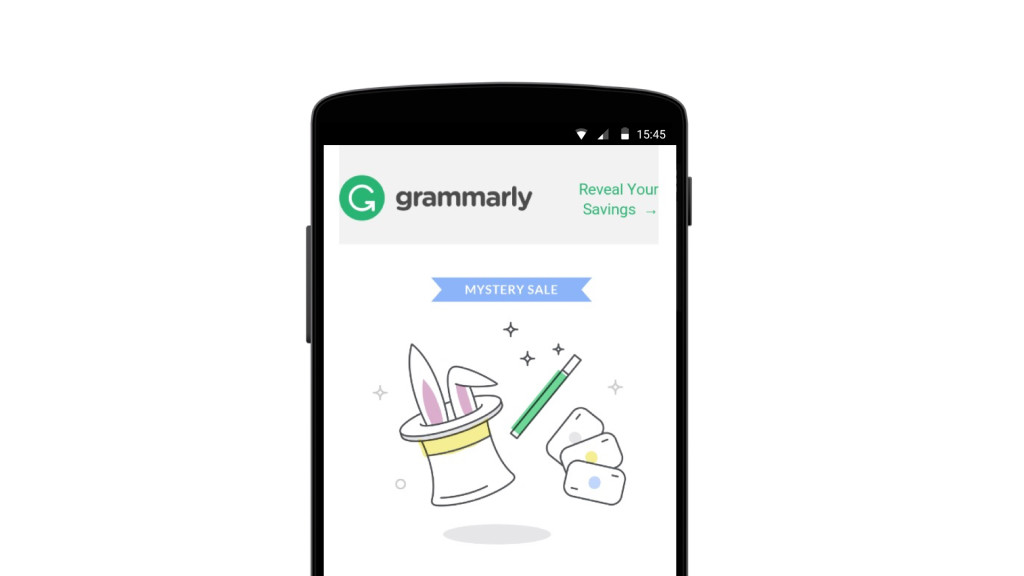 Grammarly mobile email