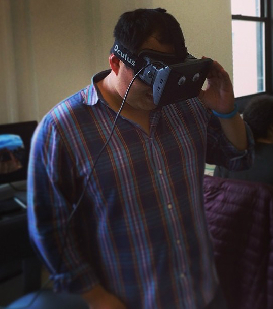 Yours truly, trying VR