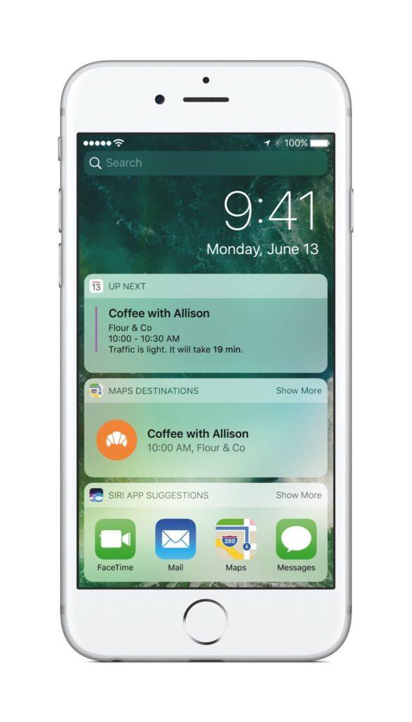 Apple's updated iOS lock screen