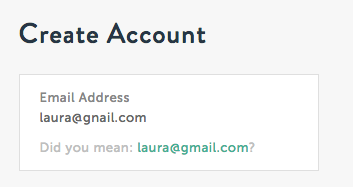 Harry's email validation