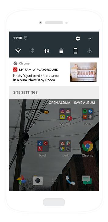 Mobile web push