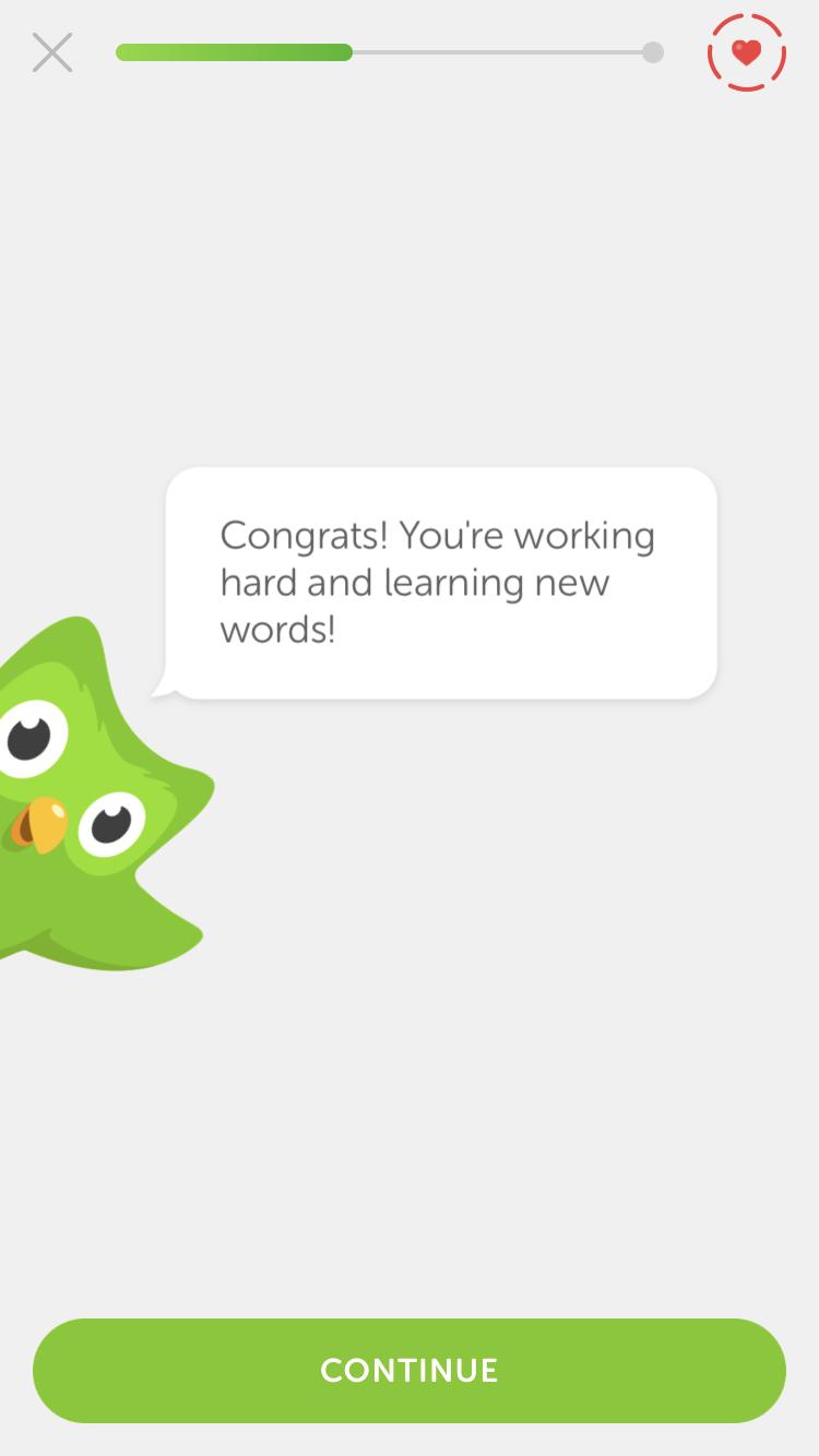 duolingo encouragement