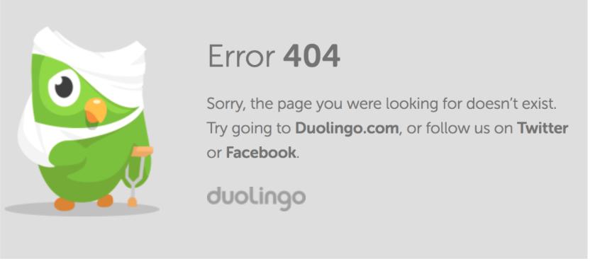 duolingo error message