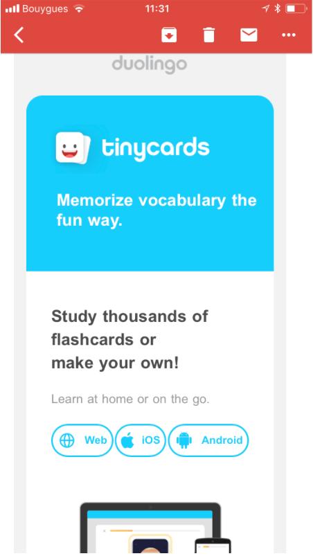 tiny cards by duolingo cross promotion